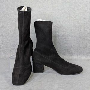 Aquatalia Janine Stretch Suede Booties